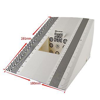 Dslrkit 28x18cm lente foco calibração cartão de dobramento da régua de alinhamento (pacote de 2)