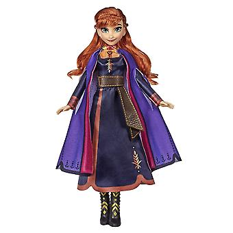 Disney frozen singing anna fashion doll with music wearing a purple dress inspired by disney frozen