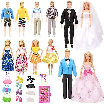 Subang 33 pieces doll clothes and accessories for 11.5 inch girl boy doll include 12 set doll groom