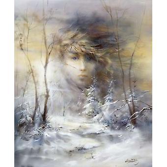 Vinter plakat Print af Willem Haenraets