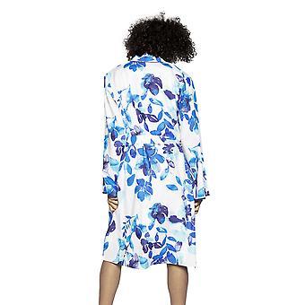 Cyberjammies Libby 4767 Ženy's Biela a modrá Mix Kvetinová bavlnená róba