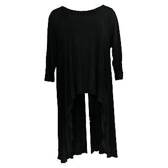 G.I.L.I. Got It Love It Women's Top With Rib Knit Tunic Black A375545