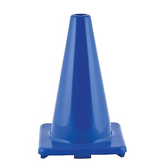 """Cono de vinilo flexible de alta visibilidad, ponderado, 12"""", azul real"""