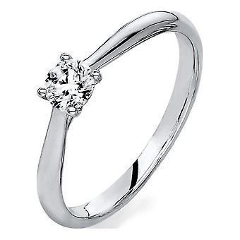 Luna Creation Promessa Solitairering 1A291W854-3 - Ring bredd: 54