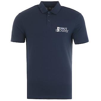 Armani Exchange Sustainable Polo Shirt - Navy