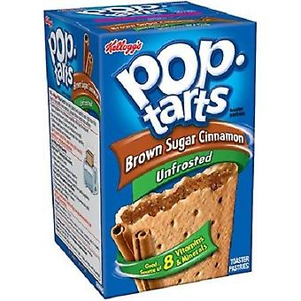 Kellogg's Pop Tarts Unfrosted Brown Sugar Cinnamon Toaster Pastries 14.7 oz Box