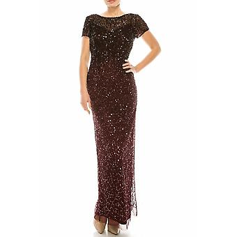 Sequined Long Gown With Slit