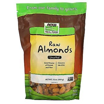 Now Foods, Real Food, Raw Almonds, Unsalted, 16 oz (454 g)