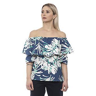 Women: n Alpha Studio Sininen T-paita