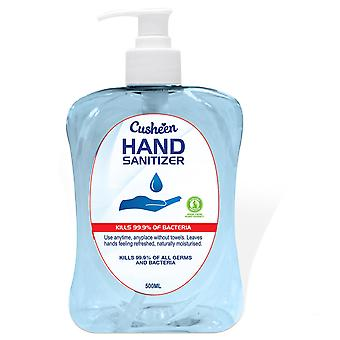 Cusheen Hand Sanitizer Naturally Moisturised, Kills 99.9% of Bacteria - 500ml