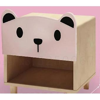 Bedside Cabinet Cartoon Bedroom Receive Storage Solid Wood Bear Double Draw