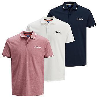 Jack &Jones Masculino 2021 Camiseta Única Stretch Cotton 2 Botón Polo Casual Polo