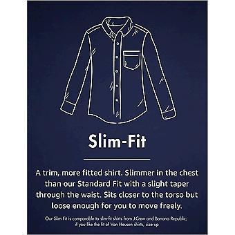 "Brand - Goodthreads Men's ""The Perfect Oxford Shirt"" Slim-Fit Long-Sleeve Solid, Indigo, 2XL Tall"