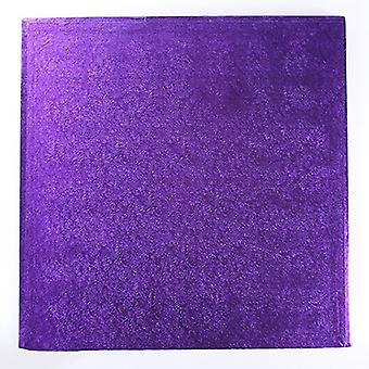 "14"" (355mm) Cake Board Square Purple - single"