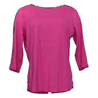 Belle de Kim Gravel Women's Top Triple Luxe Knit Pink A386460