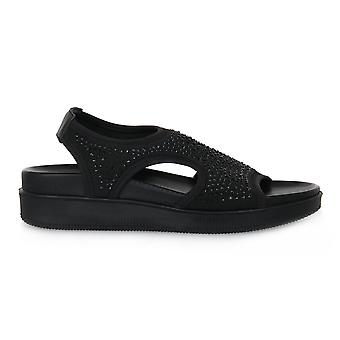 Enval soft daisy black shoes