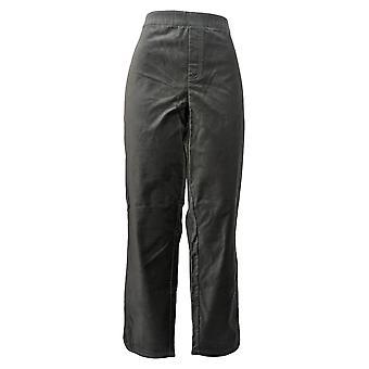 Isaac Mizrahi Live! Frauen's Hose samt Knöchel w / Tulpe Saum grau A344970