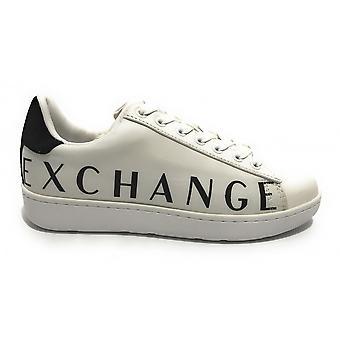 Shoes Women's Armani Exchange Sneaker Leather/ Nylon White Ds21ax06 Xdx036