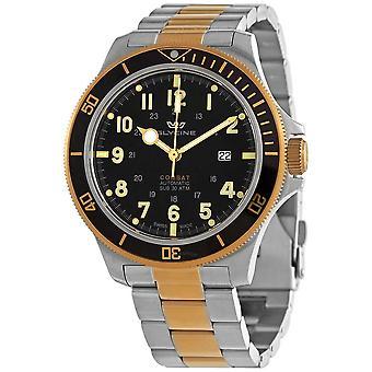 Glycine Combat Sub 46 Automatic Black Dial Men's Watch GL0293