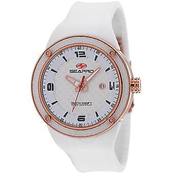 Seapro Driver Quartz White Dial Men's Watch SP2114