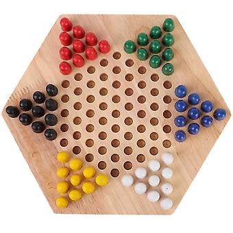 Checker Game Set Wooden Educational Board
