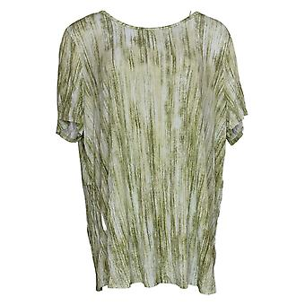 Lisa Rinna Collection Women's Top Printed Knit W/ Detail Groen A301284