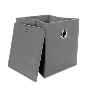 M&W Set Of 6 Collapsible Storage Boxes Grey
