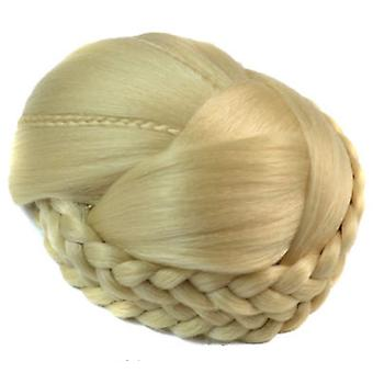 Women Synthetic Fiber Hair Bun Donuts Double Twist Hair Buns Wig Lady Chignons