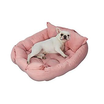 Pet Bed 2 Way Use Dog Cat Soft Warm Kennel Sofa Large
