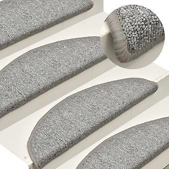 vidaXL Stair mats 15 pcs. light grey 65x24x4 cm