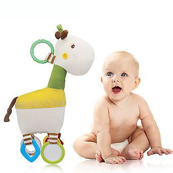 Horse Baby Hanging Toys Children Rattle Toys With Sound Box Mirror Teether Soft Plush Rattling Doll