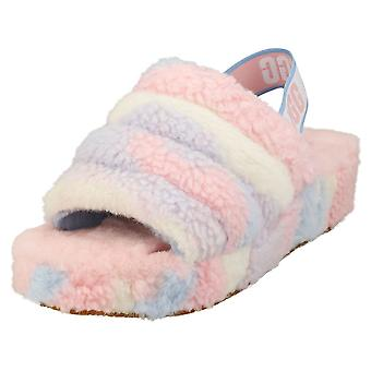 UGG Fluff Yeah Slide Cali Collage Womens Slippers Sandals in Multicolour