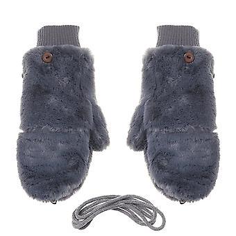 Зимние модные перчатки, женщины Ветрозащитные бархатные перчатки
