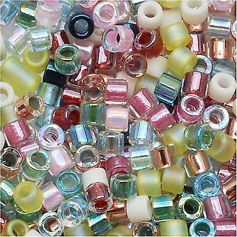 Perline di semi Miyuki Delica, taglia 11/0, 7,2 grammi, pastello di fiori primaverili mix