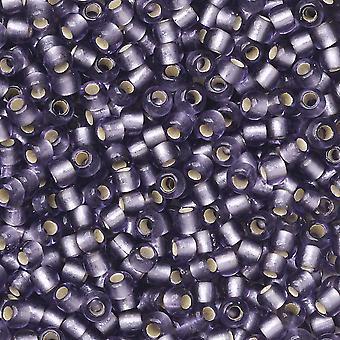 Toho-siemenet, kierros 11/0 #39F 'Hopea vuorattu himmeä vaalea tansaniitti', 8 grammaa