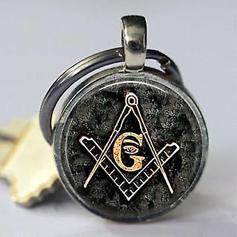 Quadrat und Kompass g Schlüsselanhänger