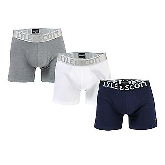 Men's Lyle And Scott Oliver 3 Pack Boxer Shorts in Blue