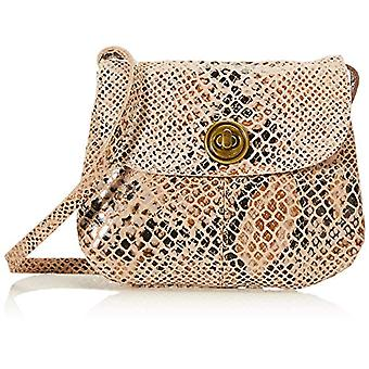 PIECES PCTOTALLY Royal Leather Party Bag Noos, Women's Folder Bag, Coconut/AOP: Godzilla Snake, One Size
