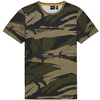 O'NEILL Lm Allover Summer Men's Short Sleeve T-shirt, Men's, Short Sleeve T-shirt, 9A2306_S, Grey (Grey AOP), S