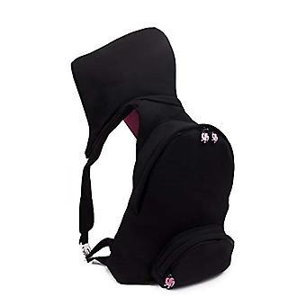 MorikukkoMorikukko Hooded Backpack Black Neon OrangeUnisex - AdultZainiNero (Black Neon Orange)33x8x40 Centimeters (W x H x L)