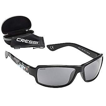 Cressi Ninja, polarizované sportovní ultraflex brýle s UV ochranou 100% Unisex Adult, černá / maskovací zelená, velikost Ref. 8022983077291