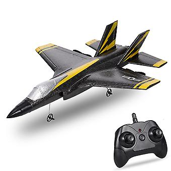 CSOC 2.4Ghz RC Avión RC Planeador RC Planeador Avión De Ala Fija Juguetes de Avión para(Negro)