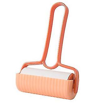 2Pcs orange household tearable sticky paper roll brush sticking hair az12597