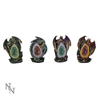 Geode Keepers (Pack Of 4) Figuras do Dragão