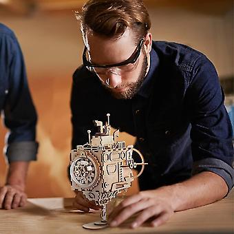 Diy wooden music box kit-h crank musical mechanism-3d wooden model building kit dt6042