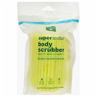 Föld gyógyászat Super Loofah Body Scrubber, Zöld 1 gróf