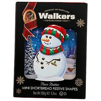 Walkers Cookies Snowman Carton, Case of 10 X 5.3 Oz