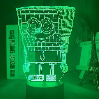 Spongebob 3d Led Night Light Kids Bedroom Table Lamp