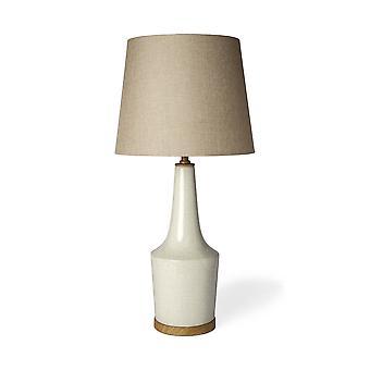 Crepitar blanco y lámpara de mesa o de escritorio de cerámica natural