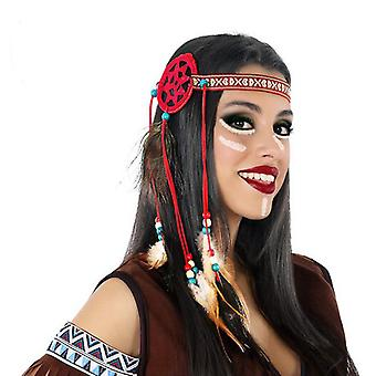 Headpiece 112283 Indian woman Red